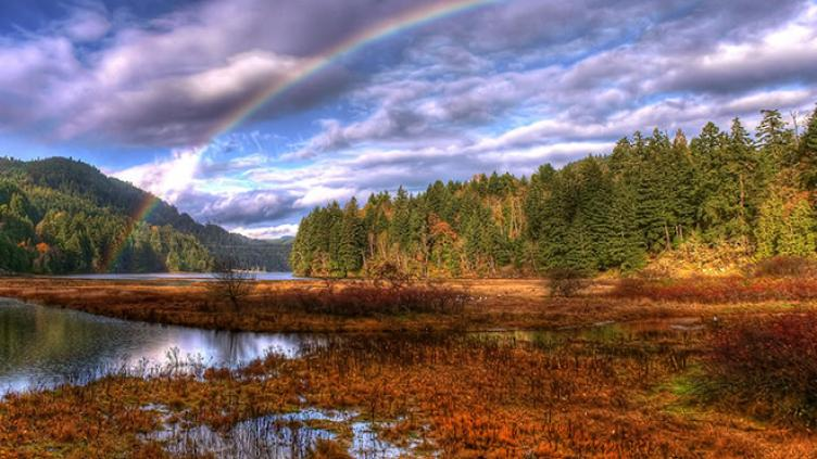 HDR rainbow panorama