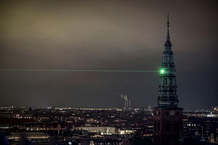 Copenhagen Light Festival Green Laser Beam by Martin Ersted CLF2019 Photo Kim Matthai Leland 5