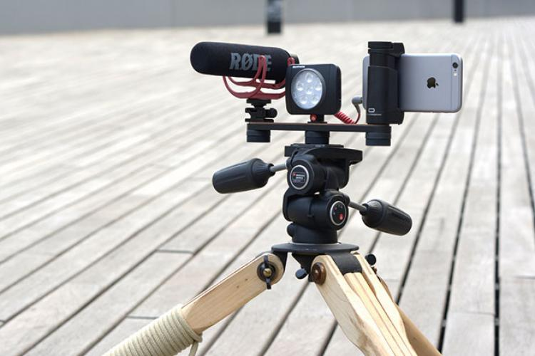 X1 53 Smartphone Rig tripod iphone Mic light2